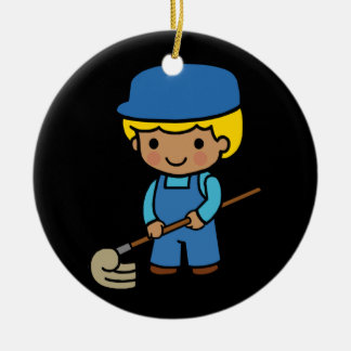 Future Janitor Ceramic Ornament