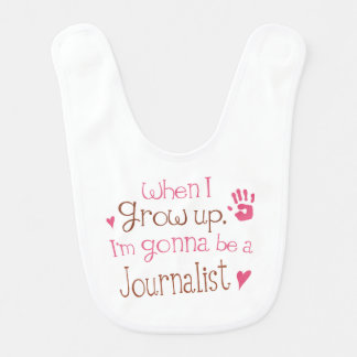 Future Journalist Baby Bib