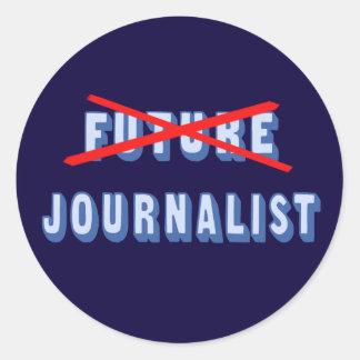 Future Journalist No More Classic Round Sticker