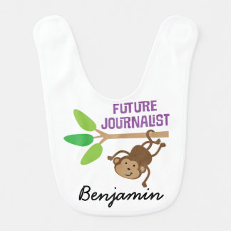 Future Journalist Personalized Baby Bib