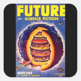 Future July 1953_Pulp Art Square Sticker