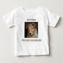 Future Junior Handler - rough collie pup Baby T-Shirt