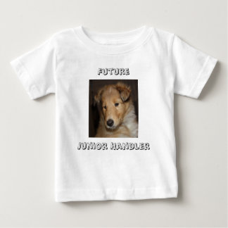 Future Junior Handler - rough collie pup Baby T-Shirt