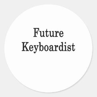 Future Keyboardist Round Stickers