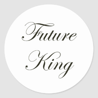 Future King Classic Round Sticker