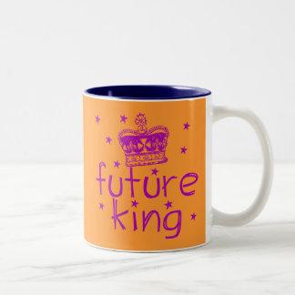 Future King Cute Royalty Tshirt Two-Tone Coffee Mug