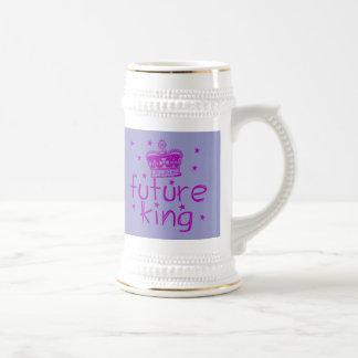 Future King Cute Royalty Tshirt 18 Oz Beer Stein