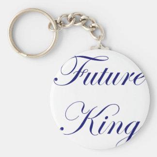 Future King Basic Round Button Keychain