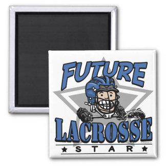 Future Lacrosse Star Blue Helmet Refrigerator Magnets
