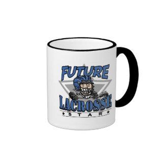 Future Lacrosse Star Blue Helmet Coffee Mugs