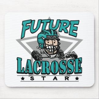 Future Lacrosse Star Teal Helmet Mouse Pad