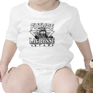 Future Lacrosse Star White Helmet Baby Bodysuit