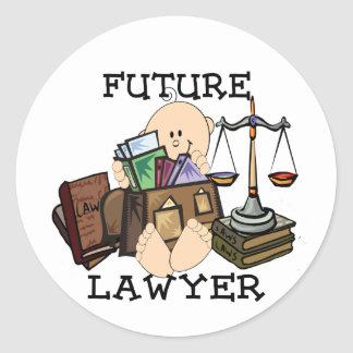 Future Lawyer Classic Round Sticker