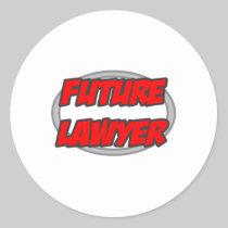 Future Lawyer Round Stickers