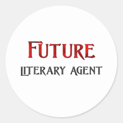 Future Literary Agent Round Sticker