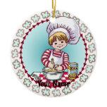 Future Little  Chef Ceramic Ornament