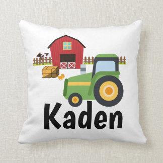 Future Little Farmer Tractor Pillow