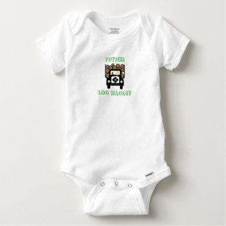 Future Log Hauler Baby Driving Log Truck Baby Onesie