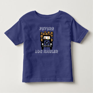 Future Log Hauler Baby Driving Log Truck Toddler T-shirt