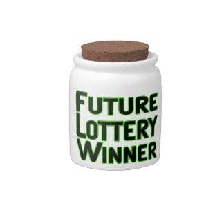 Future Lottery Winner Candy Jar
