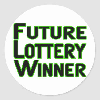 Future Lottery Winner Classic Round Sticker
