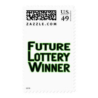 Future Lottery Winner Postage Stamp