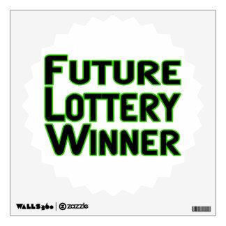 Future Lottery Winner Wall Sticker