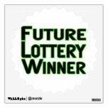 Future Lottery Winner Wall Stickers