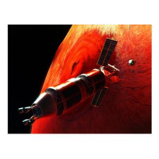 Future Manned Mars Mission Olympus Mons Postcard