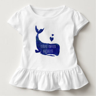 Future Marine Biologist Whale Toddler Girls Shirt