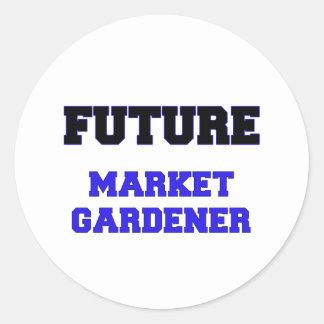 Future Market Gardener Round Sticker