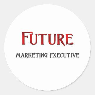 Future Marketing Executive Classic Round Sticker