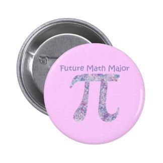 Future Math Major Paint Splatter Button