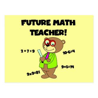 Future Math Teacher Tshirts and Gifts Postcard