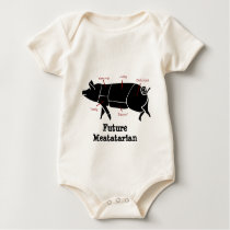 Future Meatatarian Pork Cuts for Little Piggies Baby Bodysuit