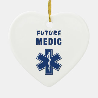 Future Medic Double-Sided Heart Ceramic Christmas Ornament