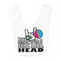Future Metal Head Bib