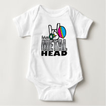 Future Metal Head crawler. Baby Bodysuit