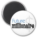 Future Millionaire - Blue Tshirts and Gifts Fridge Magnets