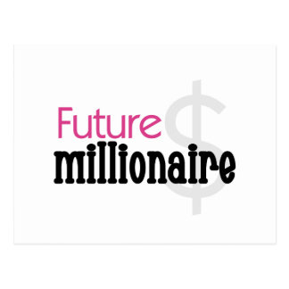 Future Millionaire - Pink Tshirts and Gifts Postcard