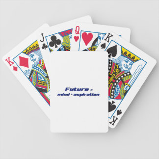 Future = Mind x Aspiration Bicycle Playing Cards