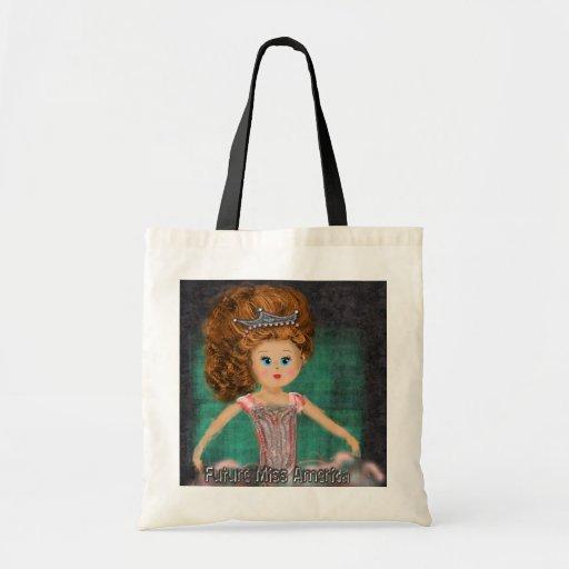 Future Miss America design Tote Bags