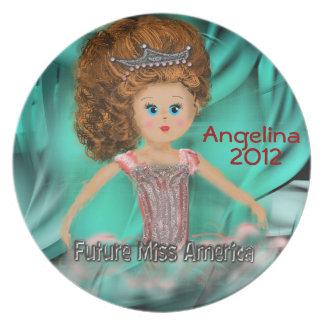 Future Miss America design Melamine Plate