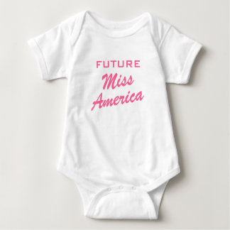 Future Miss America | Girl baby clothing T-shirt
