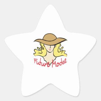 FUTURE MODEL STAR STICKER