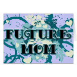 Future Mom - Hearts and Flowers Greeting Card