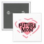 Future Mom Pink Heart Tshirts and Gifts Pins