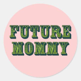 Future Mommy Round Sticker