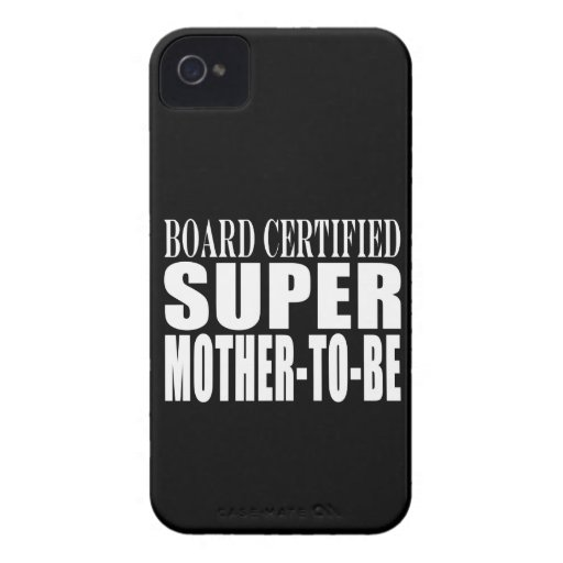 Future Moms Funny Baby Showers Super Mother to Be iPhone 4 Case