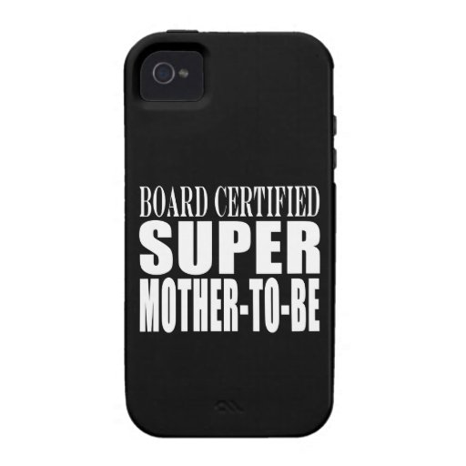 Future Moms Funny Baby Showers Super Mother to Be Case-Mate iPhone 4 Cases